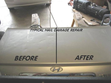 hail damaged b4 and after