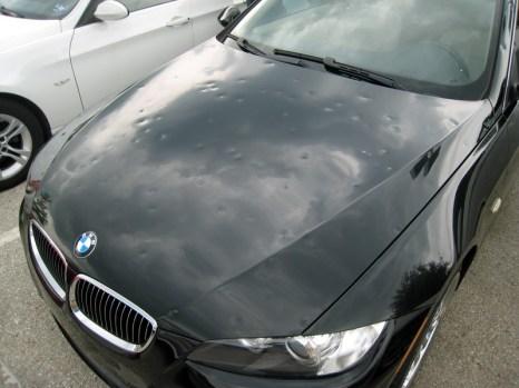 hail damaged car 1