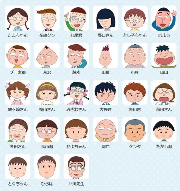 ちびまる子ちゃんのキャラクターで実在するモデルと登場人物一覧!