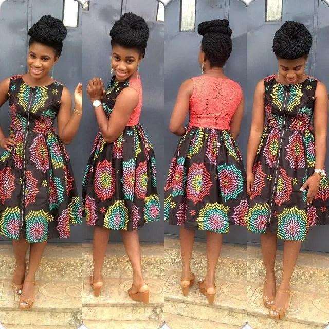 Ankara Short Gown Styles 2015