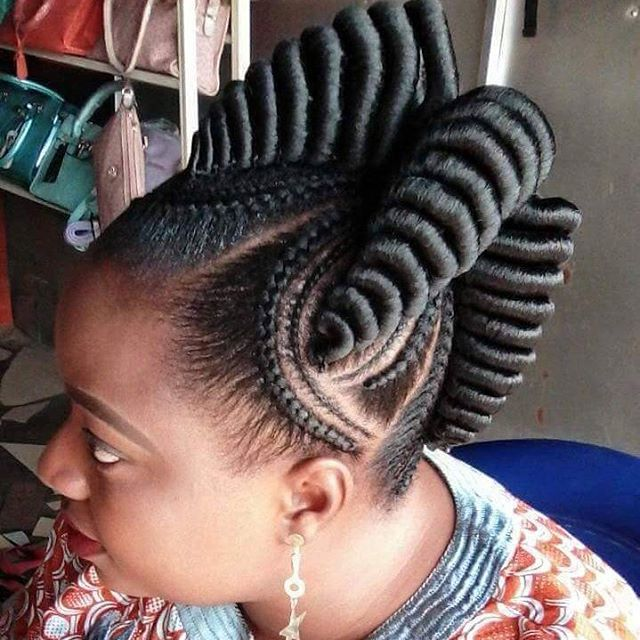 Straight Up Braids Hairstyles For Pretty African Ladies