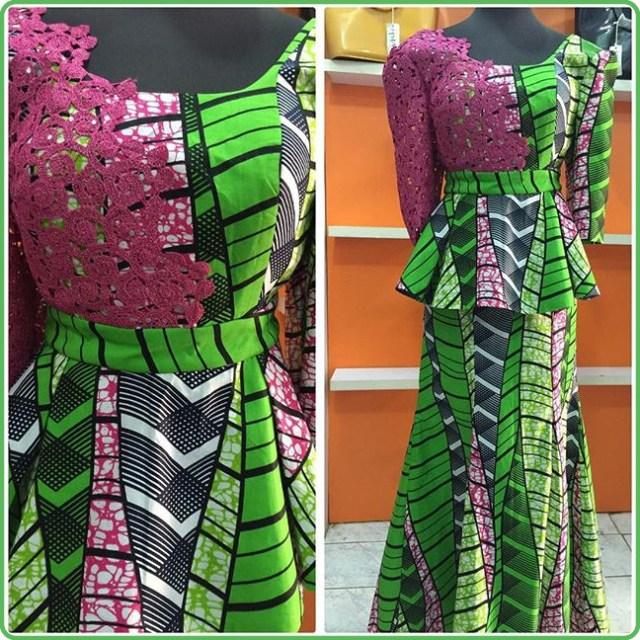 Ankara Peplum Skirt and Blouse Styles 2017/2018