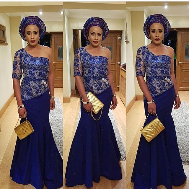 aso ebi lace gown styles 2017 2