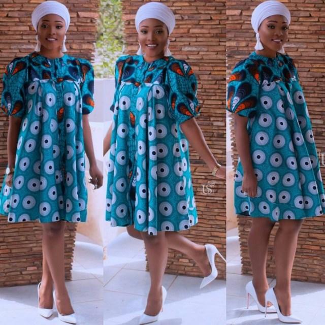 Simple Ankara Short Gown Styles 2018