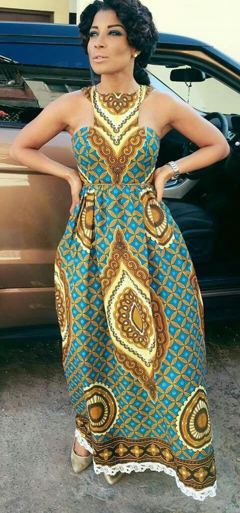 ankara maxi gowns 2017