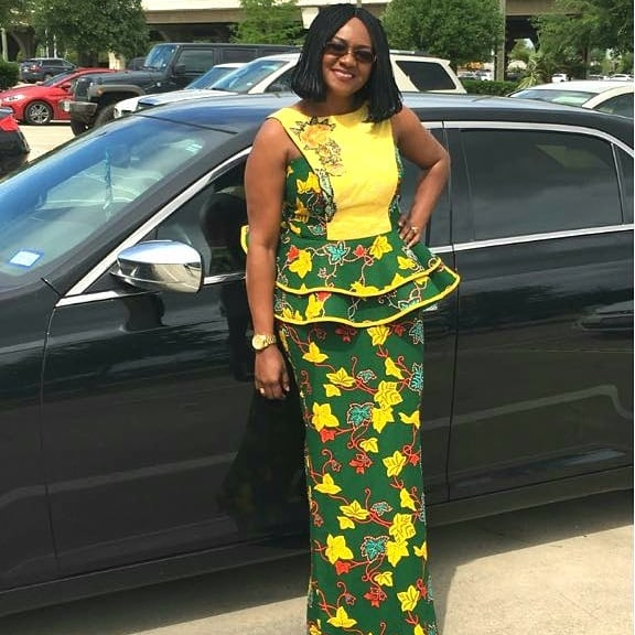 AFRICAN FASHION SKIRT AND BLOUSE