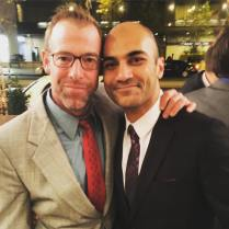 Ian Merrill Peakes and Maboud Ebrahimzadeh, two of the nominees for Outstanding Leading Actor in a Play, at the 2016 Barrymore Awards