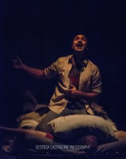 Photo of Maboud Ebrahimzadeh and James Konicek as Katurian in The Pillowman.