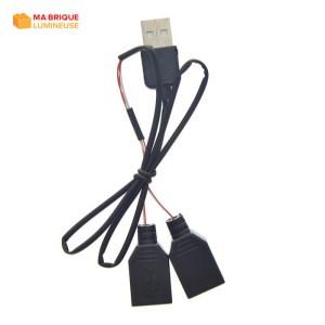 Câble d'extension USB 2 en 1 pour kit led LEGO®