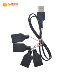 Câble d'extension USB 4 en 1 pour kit led LEGO®
