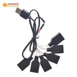 Câble d'extension USB 6 en 1 pour kit led LEGO®
