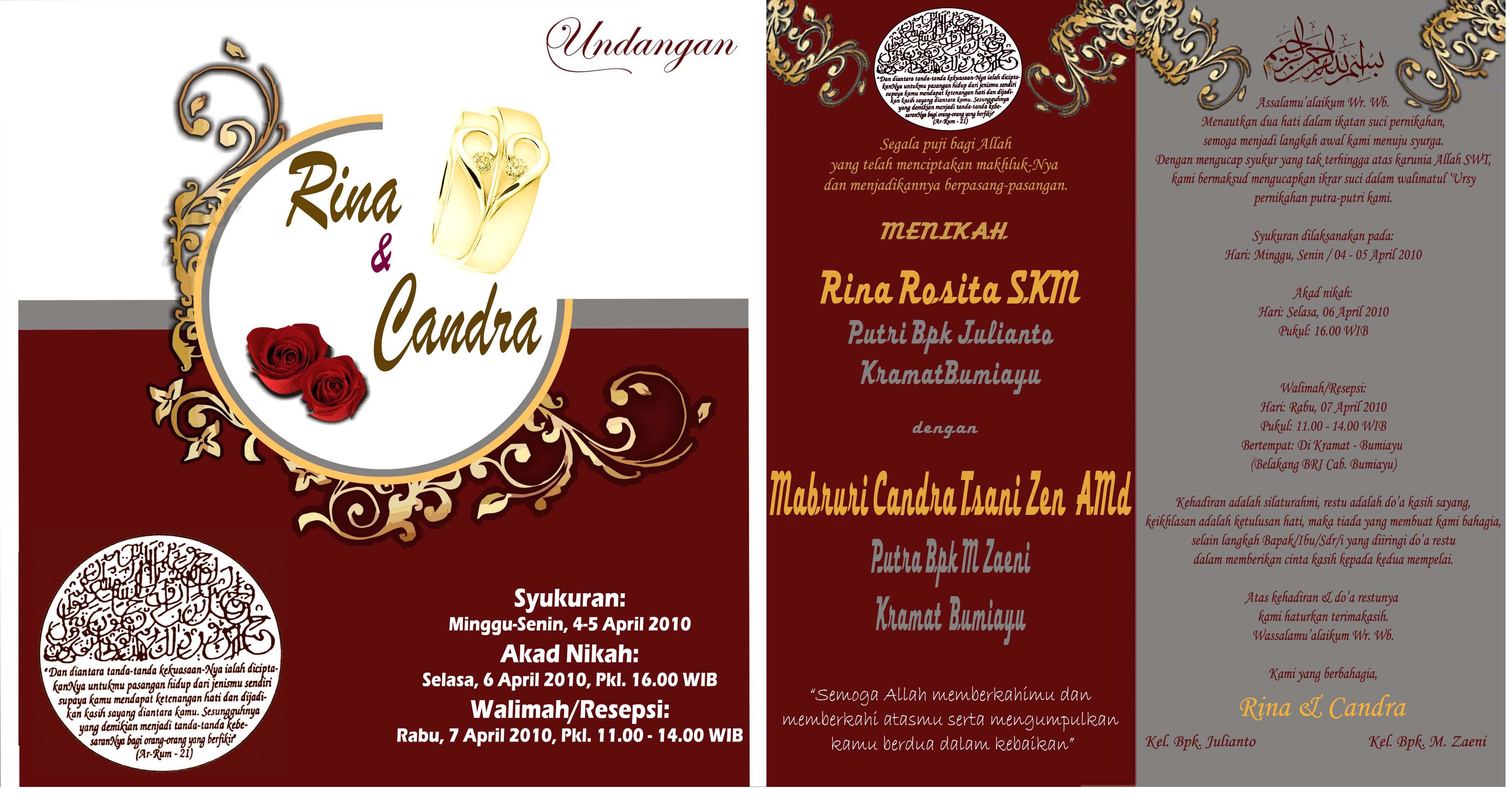 Desain Undangan Pernikahan Batik Inspirasi Pernikahan