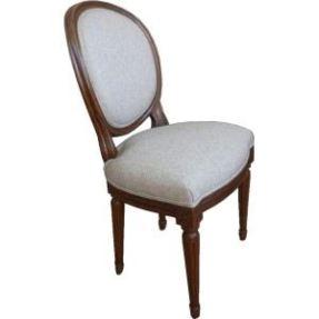 Chaise médaillon de style louis XVI