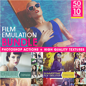 Film Emulation Actions and Textures Bundle 10859550