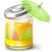 Fruitjuice active battery health and monitoring icon