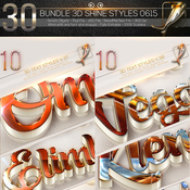 30 bundle 3d text effect 0615 11927482 icon