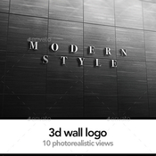 3d logo signage wall mock up 12656394 icon