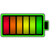 Battery health monitor battery stats and usage icon