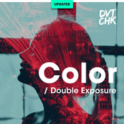 Color double exposure photoshop photo template 12736805 icon