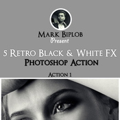 Retro black and white fx photoshop action 12761691 icon