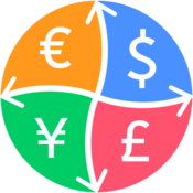 Currency converter convert the worlds major currencies with the most updated exchange rates icon