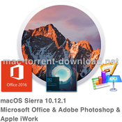 Macos sierra and microsoft office and adobe photoshop and apple iwork icon