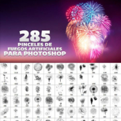 285 new year fireworks brushes for photoshop icon