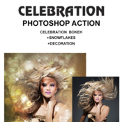 Celebration photoshop action 19166857 icon