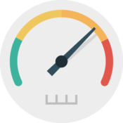 Internet speed test meter net icon