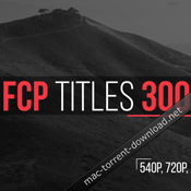 Fcp titles 300 for fcpx and motion 5 icon