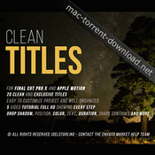 Gold clean titles for final cut pro x icon