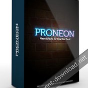 Pixel film studios proneon neon effects for fcpx icon