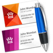 Business card designer create business cards icon
