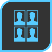 Passport photoformat print or save passport photos icon
