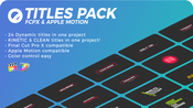 Titles pack fcpx and apple motion icon