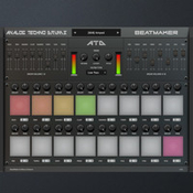 Beatmaker analog techno drums icon
