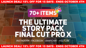 The ultimate story pack final cut pro x and apple motion icon