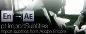 Pt importsubtitles for after effects icon