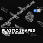 42 plastic shapes photoshop stamp brushes icon