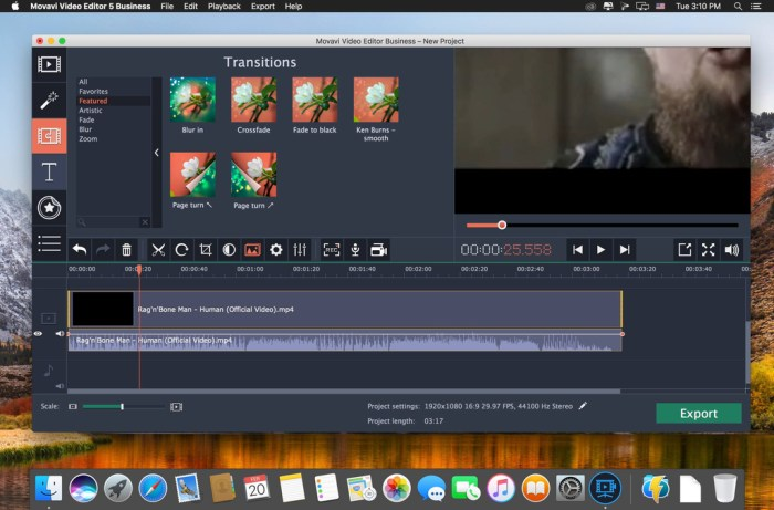 Movavi Video Editor 15 Business 1550 Screenshot 03 nb7ca6y