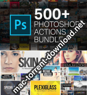 500 Photoshop actions bundle icon