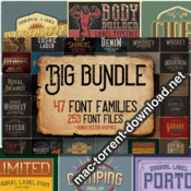 Big Vintage Fonts Bundle 253 Vintage Fonts icon