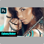 Cyborg Maker Photoshop Action 4267630 icon