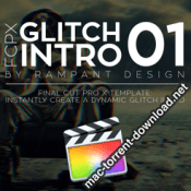 Rampant Design Tools FCPX Glitch Intro 01 icon