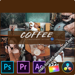 6 Coffee Photoshop Actions ACR and LUTs