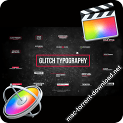 Glitch Modern Titles FCPX or Apple Motion 23312235 icon