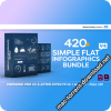 420+ Simple Flat Infographics Bundle V4