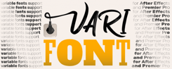 VariFont for ae icon