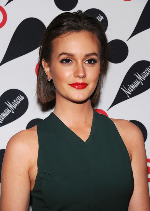 Somehow she seems more Blair Waldorf with this slicked-back look, right?