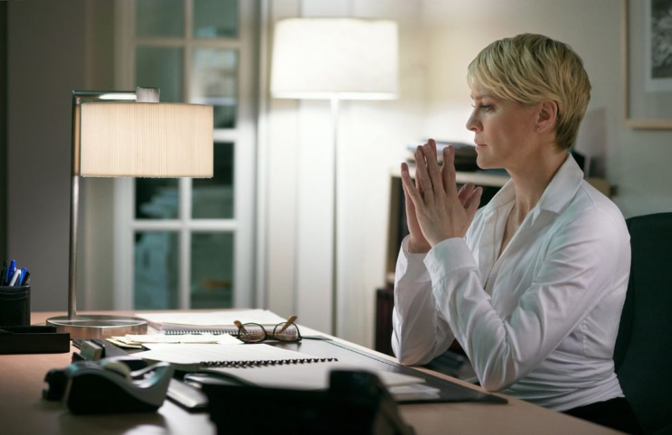 """Both Frank and Claire Underwood are manipulators writ large, compromising whatever scruples they have—in Claire's case, leveraging her own rape to conjure sympathy when she needs it most—in their bid to conquer the White House. But it is Claire, a Beltway Lady Macbeth, who steers this marriage, never underestimating the importance of networking and image buffing, with anunwavering eye for the end goal, as she advises her on-the-outs husband to prostrate himself before the president: """"Cut [your heart] out and put it in his fucking hands."""""""
